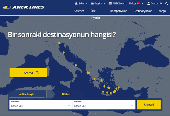 anek-lines-website