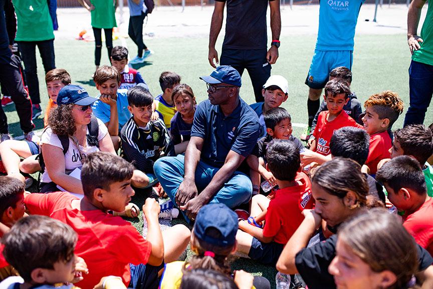 VISITA FUNDACIO FC BARCELONA A ATENAS - SKARAMAGAS CAMP